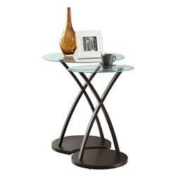 Bentwood Nesting Table in Cappuccino (Set of 2)