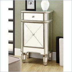 Monarch Accent Chest Mirrored finish with 1 Drawer