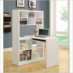 Left and Right Facing Corner Desk in White