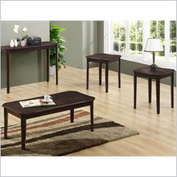 3 Piece Cherry Veneer Table Set in Cappuccino