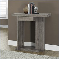 32 inch Console Accent Table in Dark Taupe