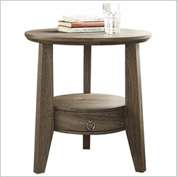 Accent Table in Dark Taupe