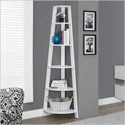 Corner Accent Etagere in White