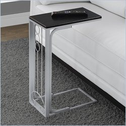 Accent Table in Black and Silver