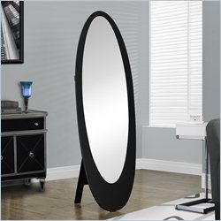 Oval Cheval Mirror in Black