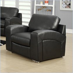 Leather Chair in Black