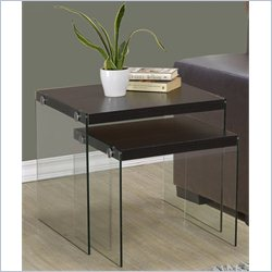 2 Piece Nesting Table Set in Rich Cappuccino