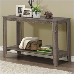 Sofa Console Table in Dark Taupe