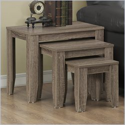3 Piece Nesting Table Set in Dark Taupe