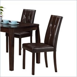 Dining Chair in Dark Brown (Set of 2)
