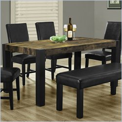 Dining Table in Distressed Black