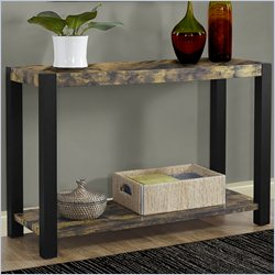 Console Table in Distressed Black