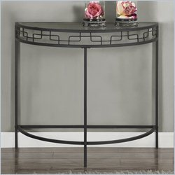 Console Accent Table in Charcoal Grey with Metal Base