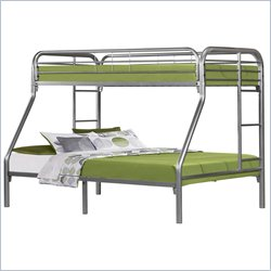 Twin Over Full Bunk Bed in Silver