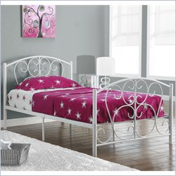 Twin Metal Bed Frame in White