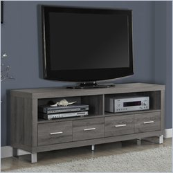 TV Console in Dark Taupe with Drawers