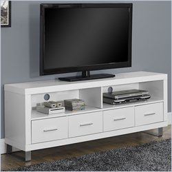 TV Console in White with Drawers