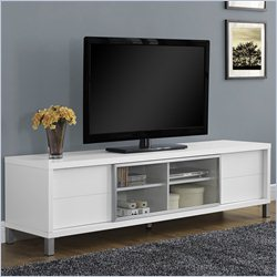 Euro Style TV Console in White