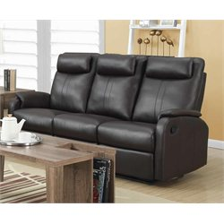 Leather Sofa in Dark Brown