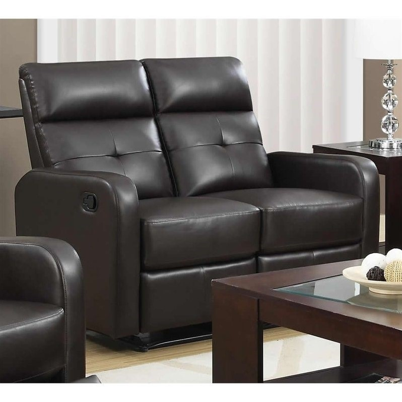 Leather Loveseat In Dark Brown I85br 2