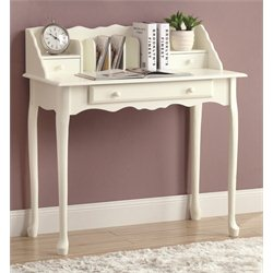 Traditional Secretary Desk in Antique White