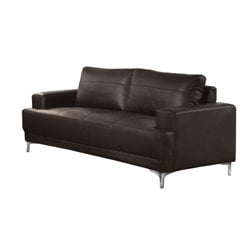 Emory Leather Sofa in Brown