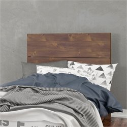 Nexera Plank Headboard in Dark Brown Truffle
