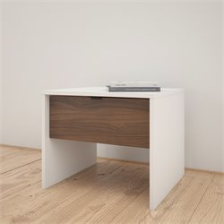 Nexera NIghtstand in White and Walnut