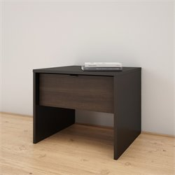 Nexera Nightstand in Black and Ebony