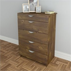 5 Drawer Chest in Truffle Finish