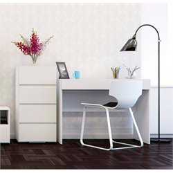 Nexera Blvd 2 Piece Home Office Set in White