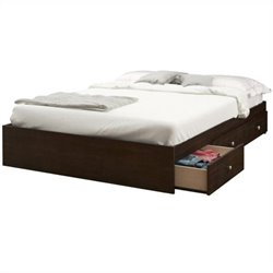 Nexera Pocono Full Storage Bed in Espresso