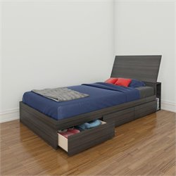 Twin 3 Drawer Storage Bed in Ebony