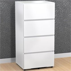 3 Drawer Filing and Storage Module in White