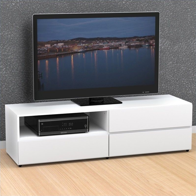 60'' TV Stand in White
