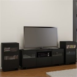 2 Tower Entertainment Center in Black