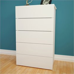 5-Drawer Chest in White