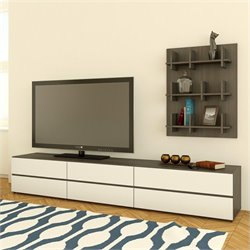 TV Stand and Bookcase Wall Panel and Storage