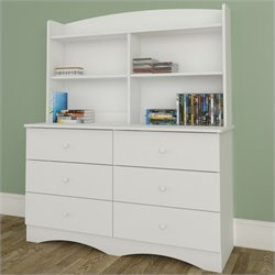 Dresser with Hutch in White