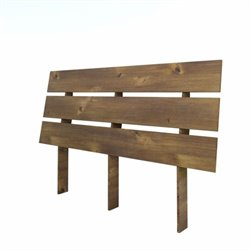 Queen Size Slat Headboard in Brown