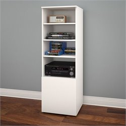 Bookcase in White and Melamine