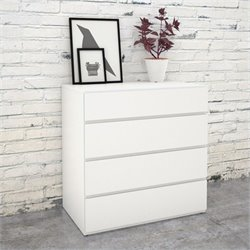 Chest with 4 Drawers in White