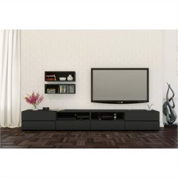 3 Piece Entertainment Set in Black Lacquer and Melamine