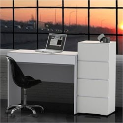 2 Piece Office Set in White