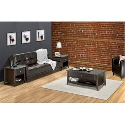 3 Piece Coffee Table Set in Espresso