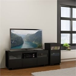 2 Piece Entertainment Set in Black