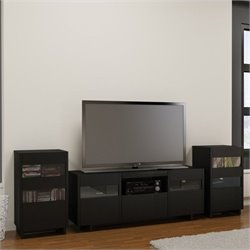 3 Piece Entertainment Set in Black