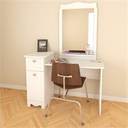2 Piece Vanity Set in White