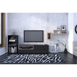 3 Piece Entertainment Set in and Black