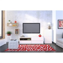 3 Piece Entertainment Set in and White